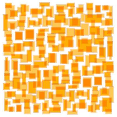 Saffron Yellow Abstract Art Print by Frank Tschakert