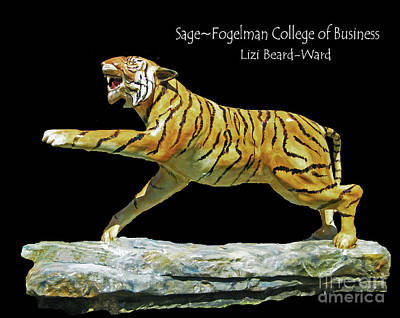 Mixed Media - Sage Tiger  University Of Memphis by Lizi Beard-Ward