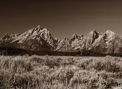 Photograph - Sagebrush And Tetons by Michael Kirk