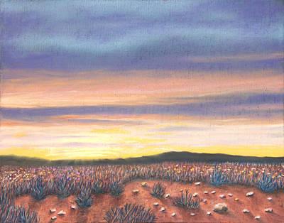 Pastel - Sagebrush Sunset B by Michael Heikkinen