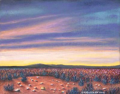Pastel - Sagebrush Sunset C by Michael Heikkinen