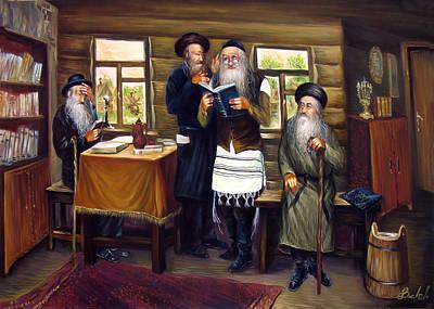 Sages Art Print by Haim Buhel