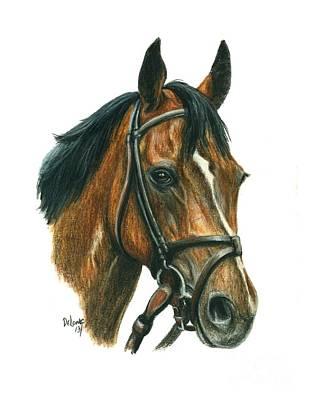 Race Horse Painting - Saginaw by Pat DeLong