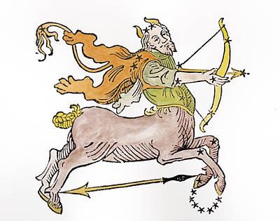 Sagittarius An Illustration Art Print by Italian School