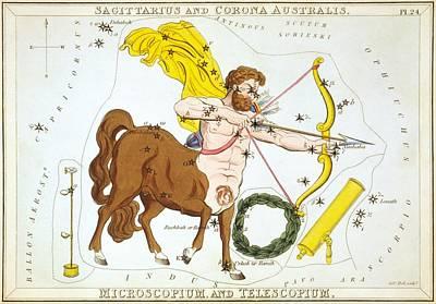 Science Fiction Painting - Sagittarius And Corona Australis - Microscopium And Telescopium by Celestial Images