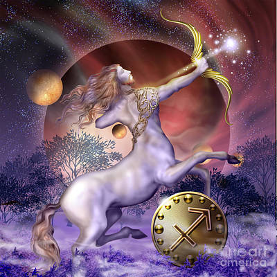 Signed Digital Art - Sagittarius by Ciro Marchetti