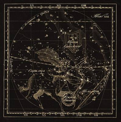 Sagittarius Constellations, 1829 Art Print by Science Photo Library