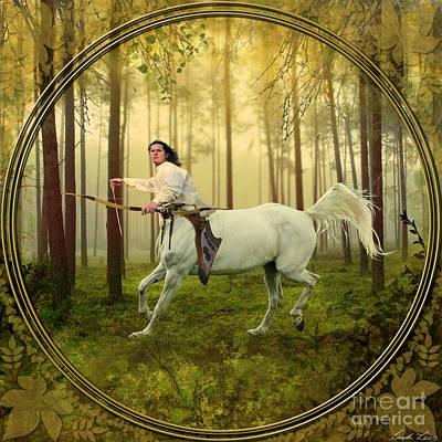 Centaur Digital Art - Sagittarius by Linda Lees