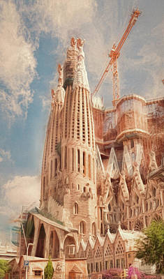 Photograph - Sagrada Familia, 2017 by Erik Brede
