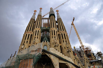 Photograph - Sagrada Familia by Andrew Dinh