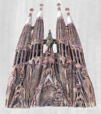 Gaudi Drawing - Sagrada Familia Barcelona by Gerald Blaikie