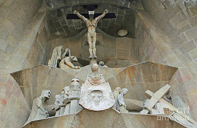 Photograph - Sagrada Familia Crucifixion by David Birchall