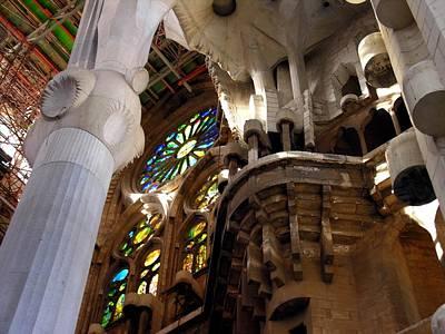Photograph - Sagrada Familia - Gaudi - Barcelona by Jacqueline M Lewis