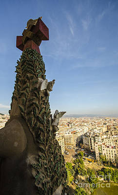 Photograph - Sagrada Tree Of Life Overlooking Barcelona by Deborah Smolinske