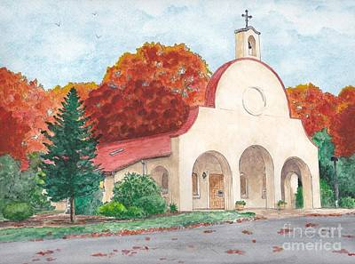 Painting - Sagrado Corazon De Jesus Church by Michelle Welles