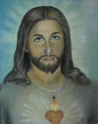 Puerto Rico Painting - Sagrado Corazon by Maurice Dilan