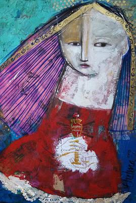 Painting - Sagrado Corazon by Thelma Lugo