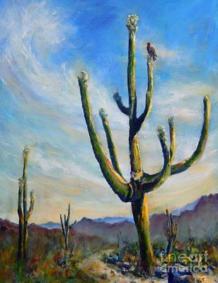Saguaro Cacti Art Print