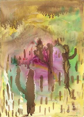 Painting - Saguaro Desert by Mukta Gupta