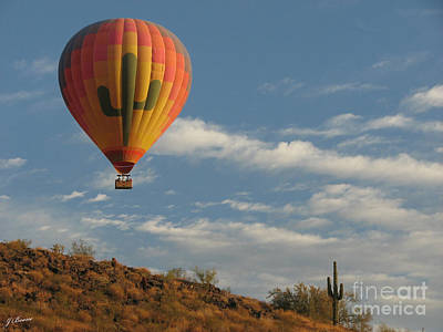 Photograph - Saguaro Fly Over by Jessica Boone