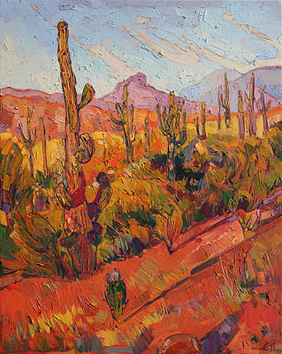 Saguaro Gathering  Art Print