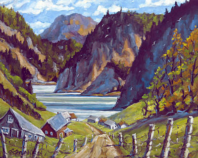 Acrylic On Wood Painting - Saguenay Summer By Prankearts by Richard T Pranke