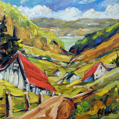 Acrylic On Wood Painting - Saguenay Valley By Prankearts by Richard T Pranke