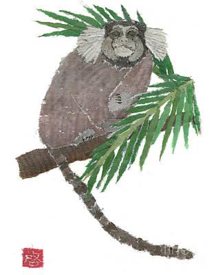 Painting - Tamarin Monkey Art by Keiko Suzuki