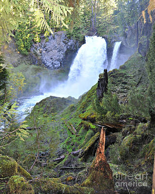 Photograph - Sahalie Falls Oregon by Mindy Bench