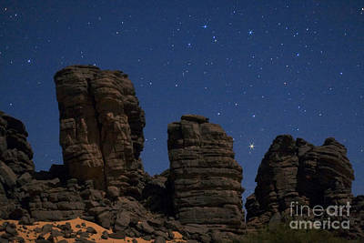 Moonlit Night Photograph - Sahara Night by Babak Tafreshi