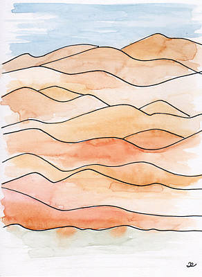 Painting - Sahara Sand Dunes 2 by Anna Elkins