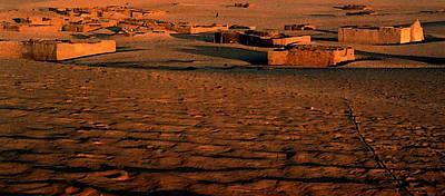 Sahara Mixed Media - Sahara Village by Anthony Dalton