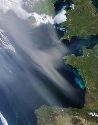 Saharan Dust Plume, Bay Of Biscay Art Print by Science Photo Library