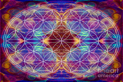 Sahasrara Digital Art - Sahasrara Abstract Chakra Art By Omaste Witkowski by Omaste Witkowski