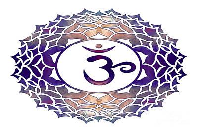 Karma Mixed Media - Sahasrara Two Abstract Chakra Art By Omaste Witkowski by Omaste Witkowski