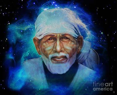 India Babas Digital Art - Sai Baba Of Shirdi Is With Us by Tarik Eltawil
