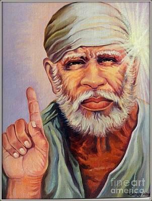 Sai Painting - Sai Baba by Sanjay Wagh