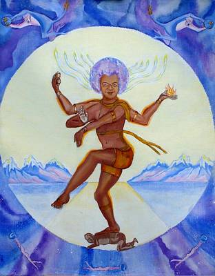 Sai Baba Painting - Sathya Sai Baba Sai Shiva by Sonya Ki Tomlinson