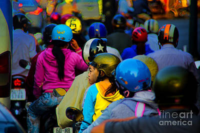 Photograph - Saigon Traffic by Rick Bragan