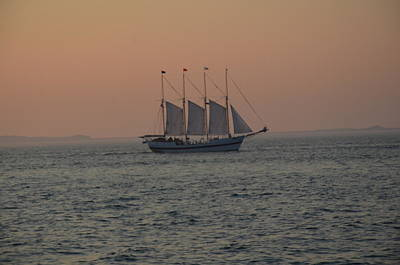 Photograph - Sail At Sunset by Brett Geyer