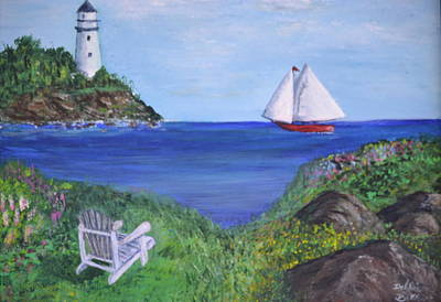 Painting - Lighthouse View by Debbie Baker