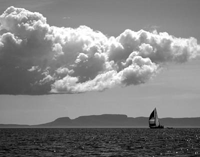 Photograph - Sail Away In Grey by Nicole Daniels