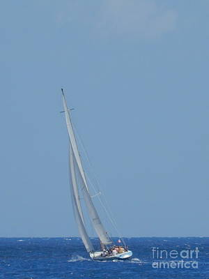 Railroad - Sail Away On The Deep Blue Sea Off The Coast Of Puerta Maya Cozumel Mexico by Michael Hoard