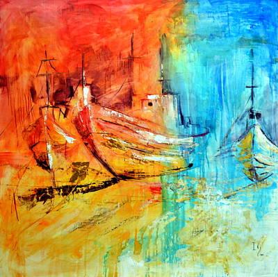 Surrealistic Painting - Sail Away by Ivan Guaderrama