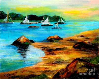 Cape Cod Painting - Sail Away by Larry Martin