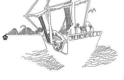 Sethweaver Drawing - Sail Away by Seth Weaver