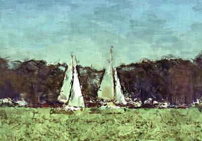 Sail Away Art Print by Susan Leggett
