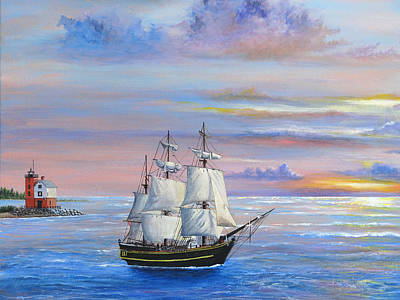 Painting - Sail Away by Vicky Path