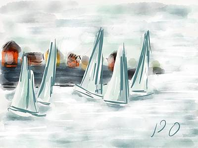 Digital Art - Sail Away With Me by Patricia Olson