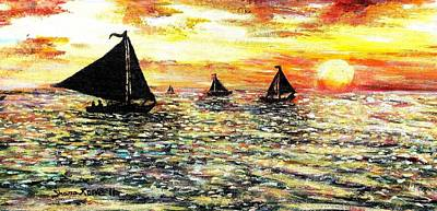Art Print featuring the painting Sail Away With Me by Shana Rowe Jackson